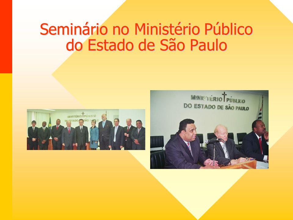 Seminário no Ministério Público do Estado de São Paulo