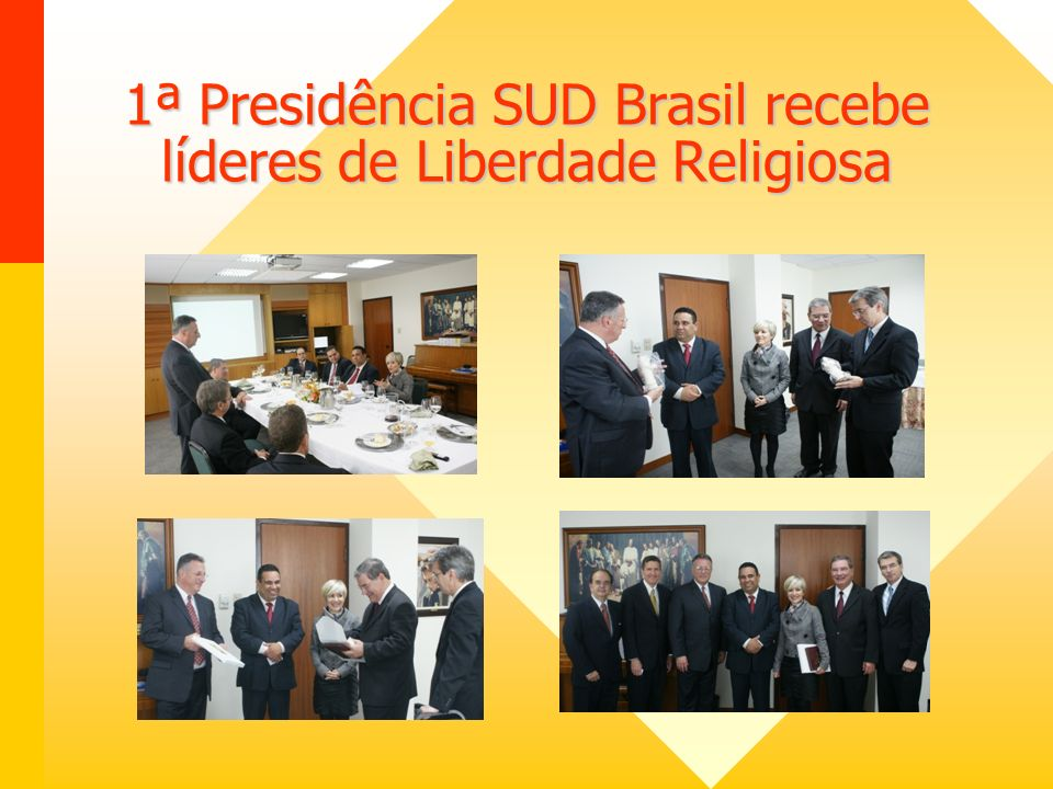 1ª Presidência SUD Brasil recebe líderes de Liberdade Religiosa