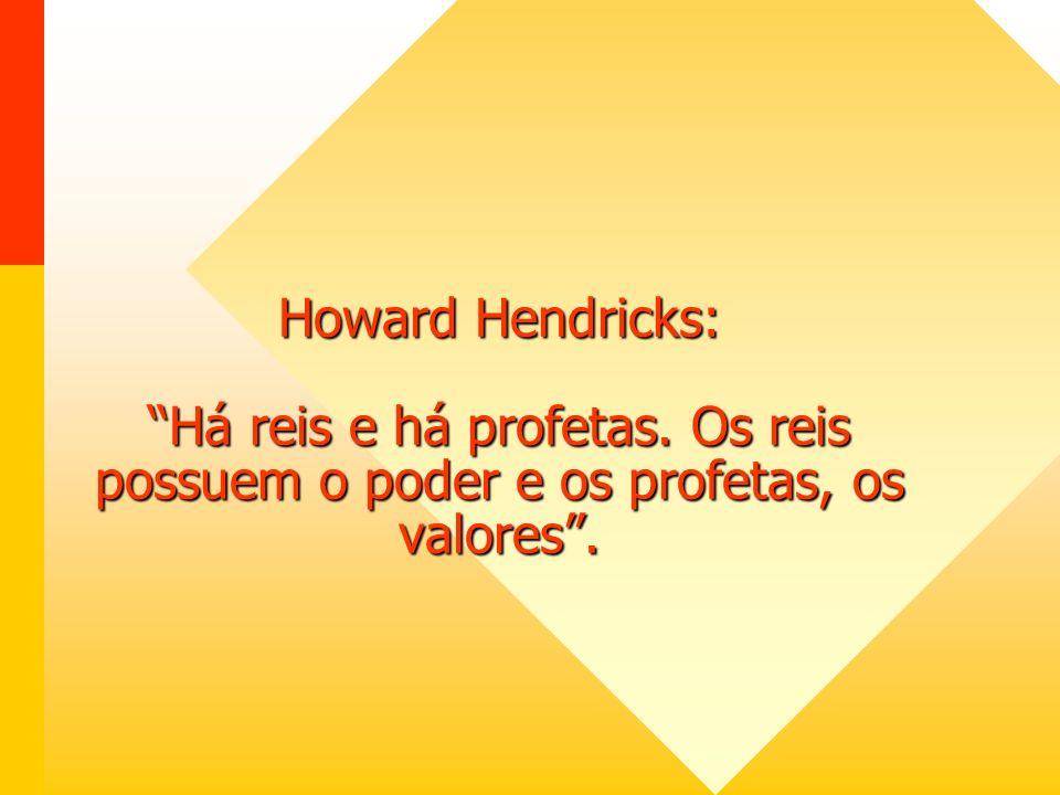 Howard Hendricks: Há reis e há profetas
