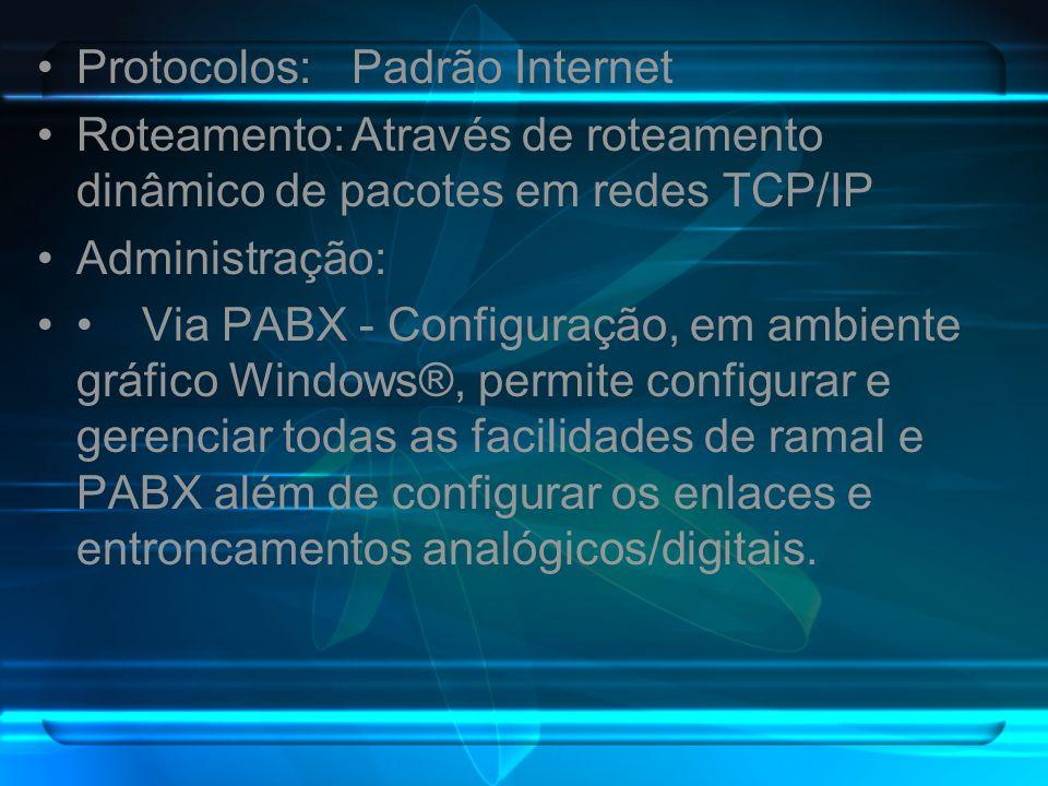 Protocolos: Padrão Internet