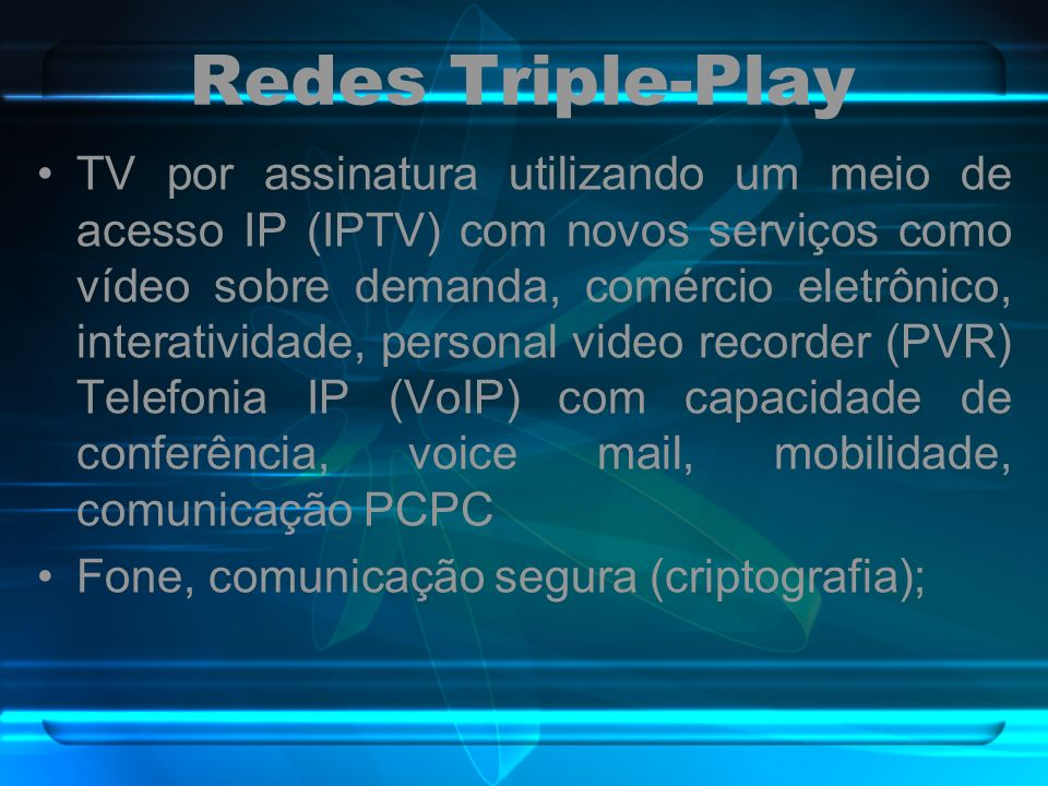 Redes Triple-Play