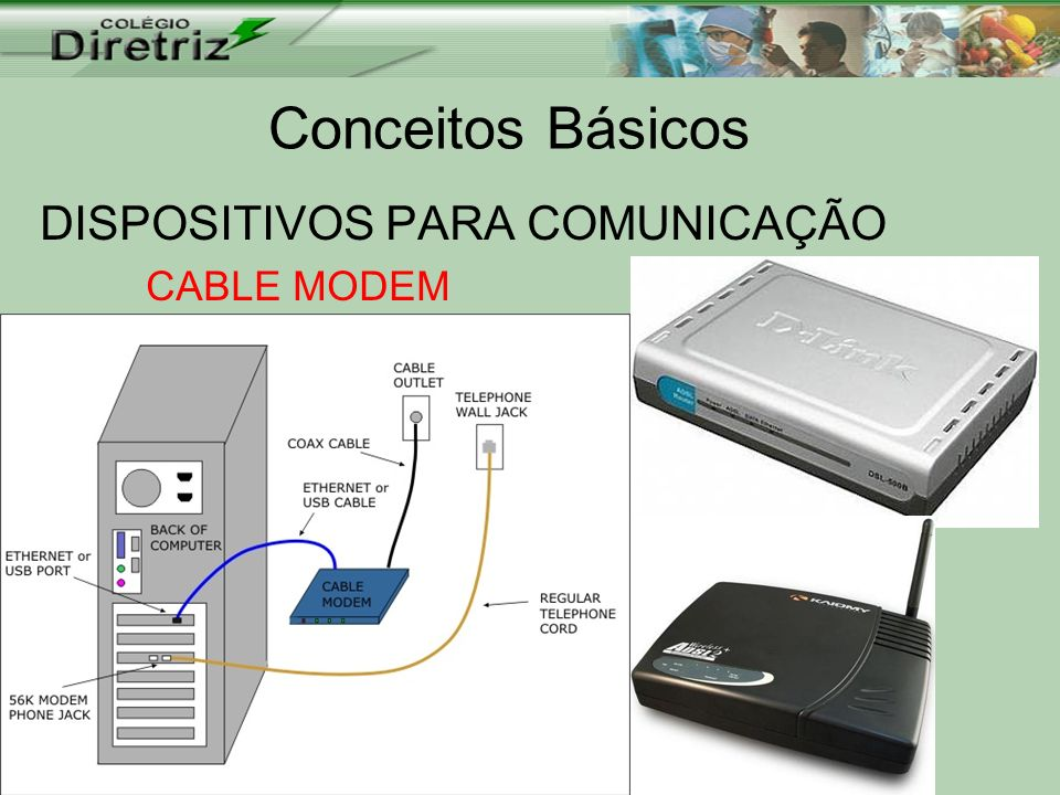 DISPOSITIVOS PARA COMUNICAÇÃO CABLE MODEM