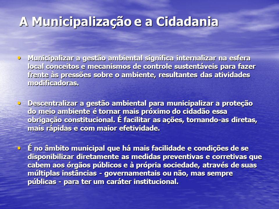 A Municipalização e a Cidadania