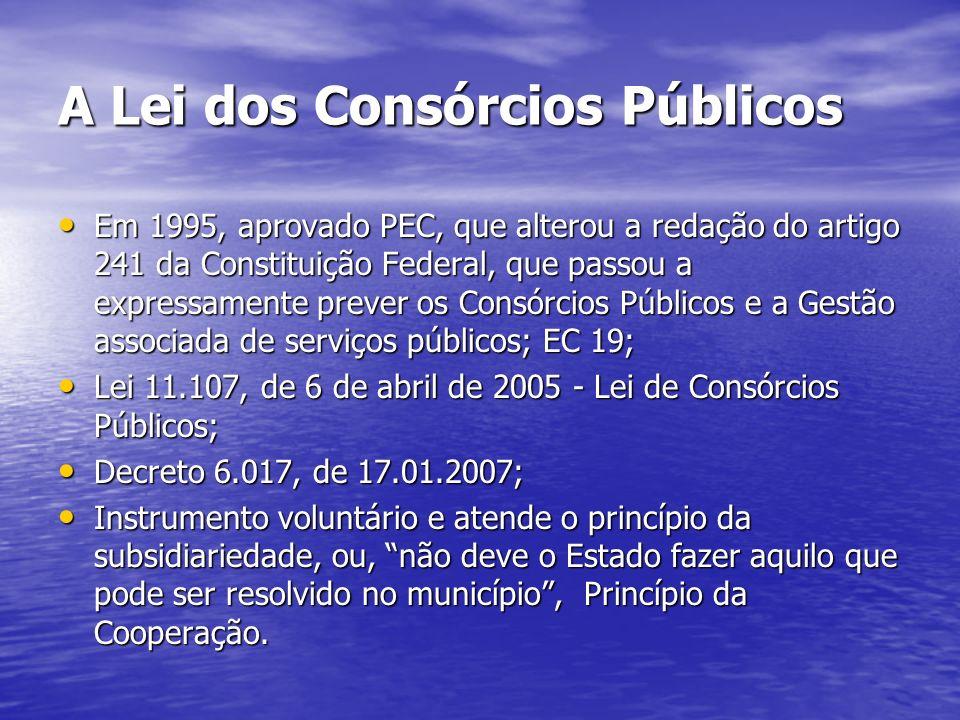 A Lei dos Consórcios Públicos