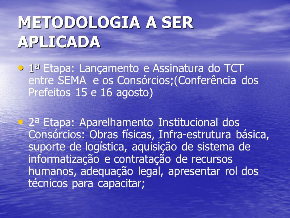 METODOLOGIA A SER APLICADA