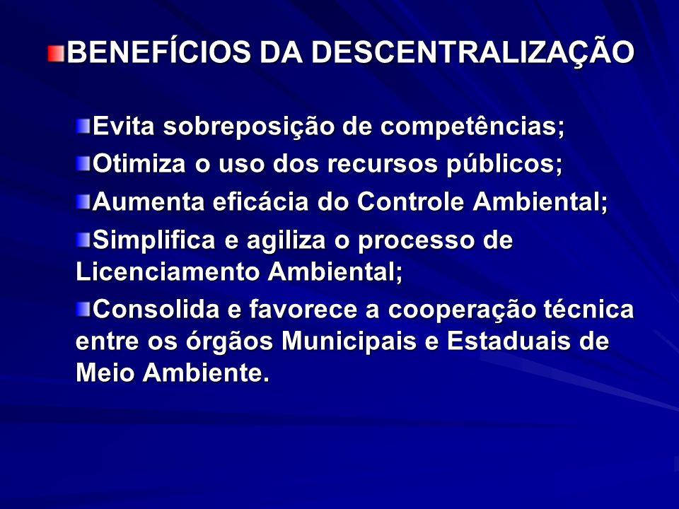 BENEFÍCIOS DA DESCENTRALIZAÇÃO