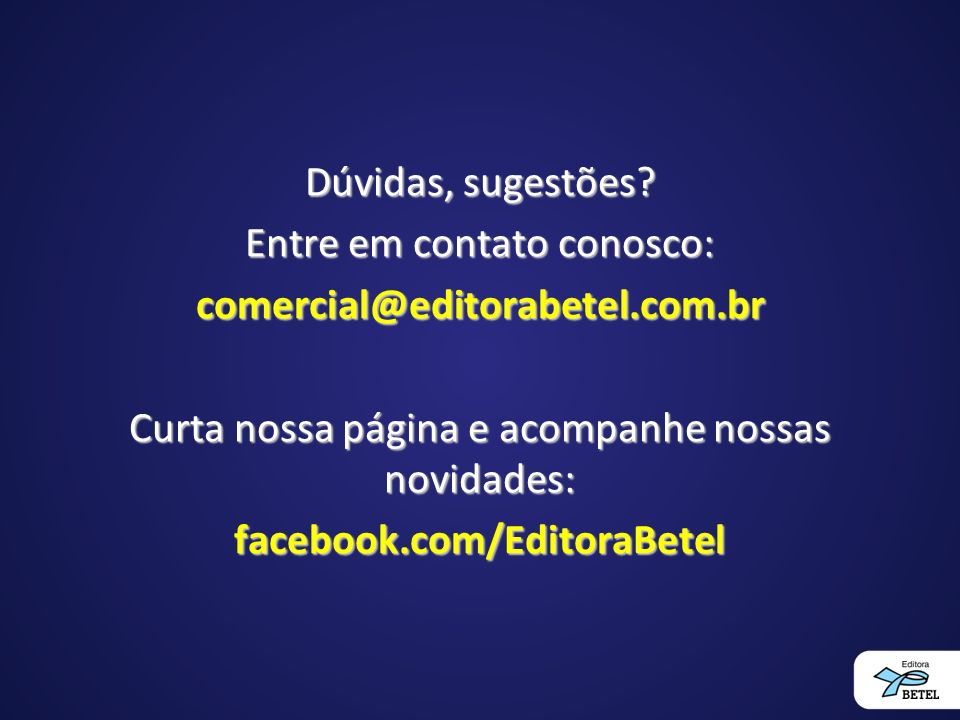 facebook.com/EditoraBetel