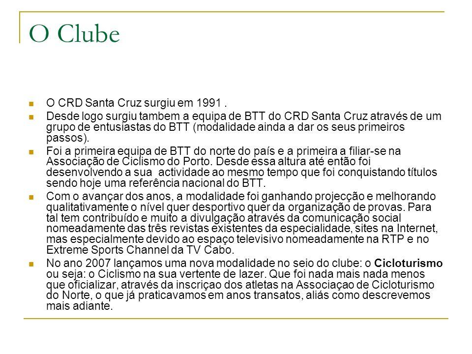 O Clube O CRD Santa Cruz surgiu em 1991 .