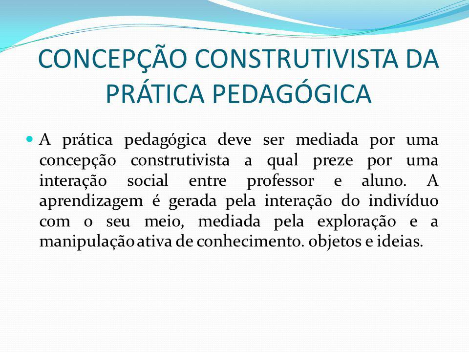 CONCEPÇÃO CONSTRUTIVISTA DA PRÁTICA PEDAGÓGICA