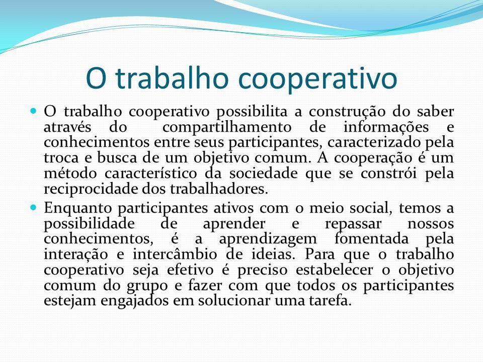 O trabalho cooperativo
