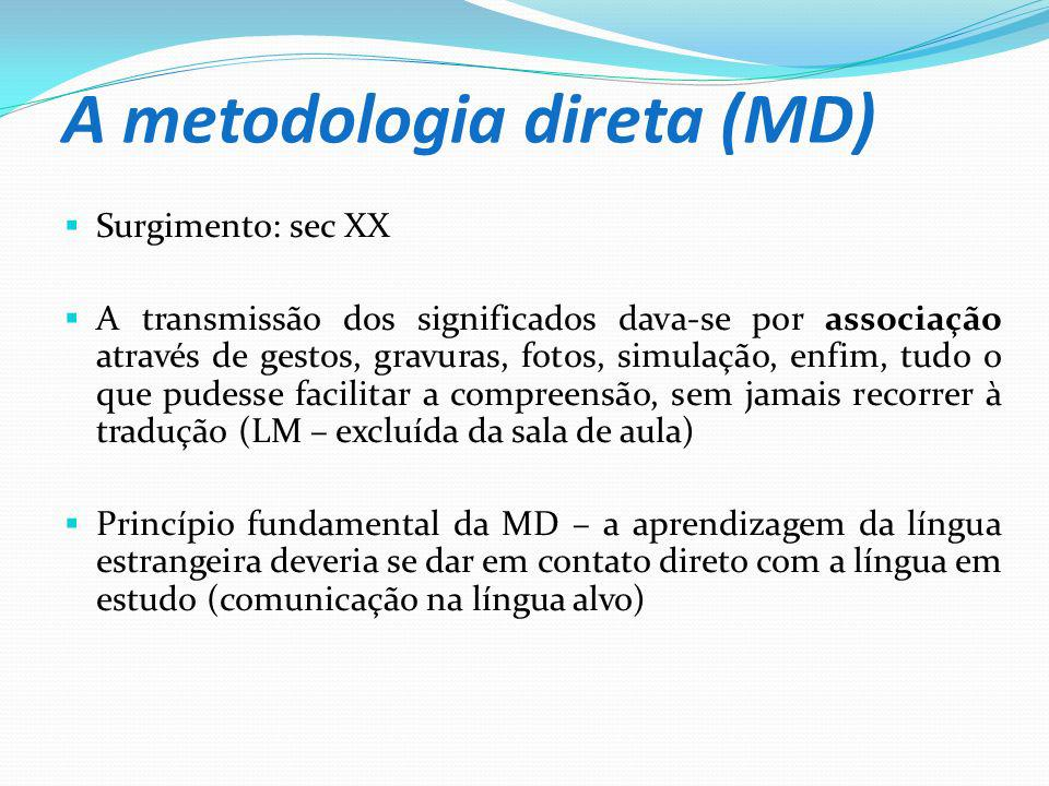 A metodologia direta (MD)
