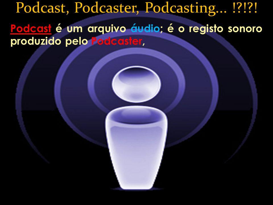 Podcast, Podcaster, Podcasting... ! ! !