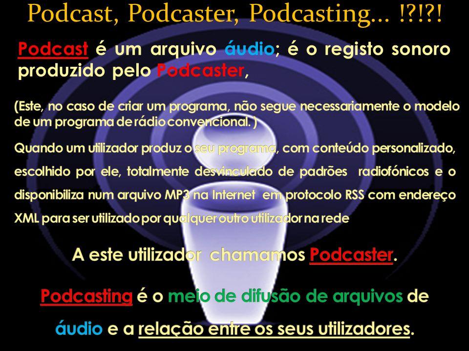 A este utilizador chamamos Podcaster.