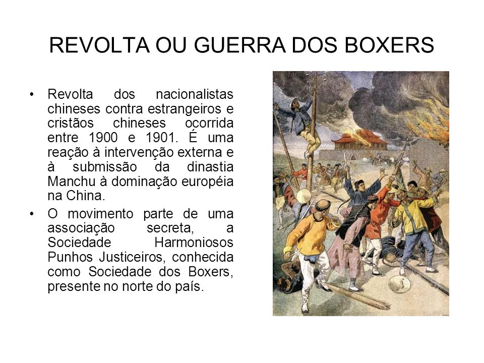 REVOLTA OU GUERRA DOS BOXERS