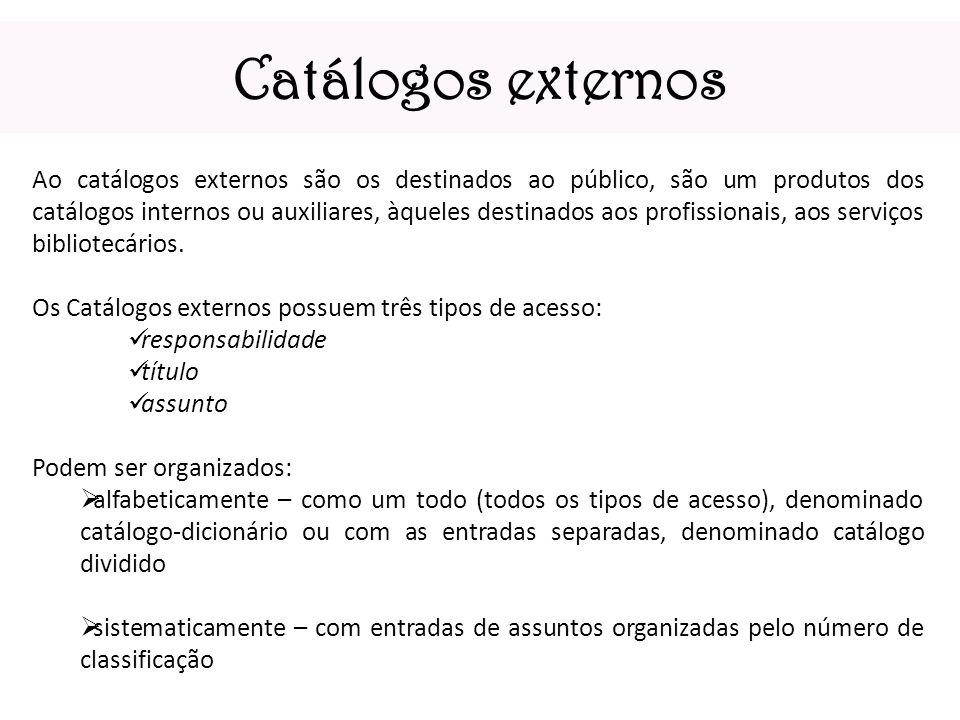 Catálogos externos