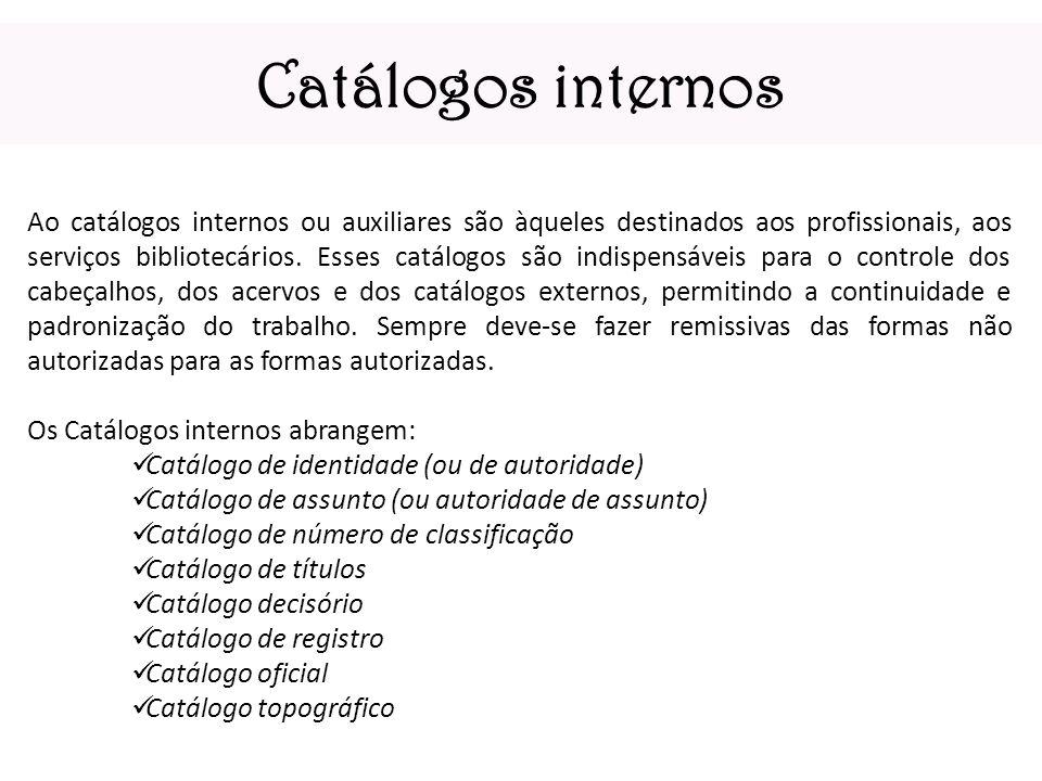 Catálogos internos