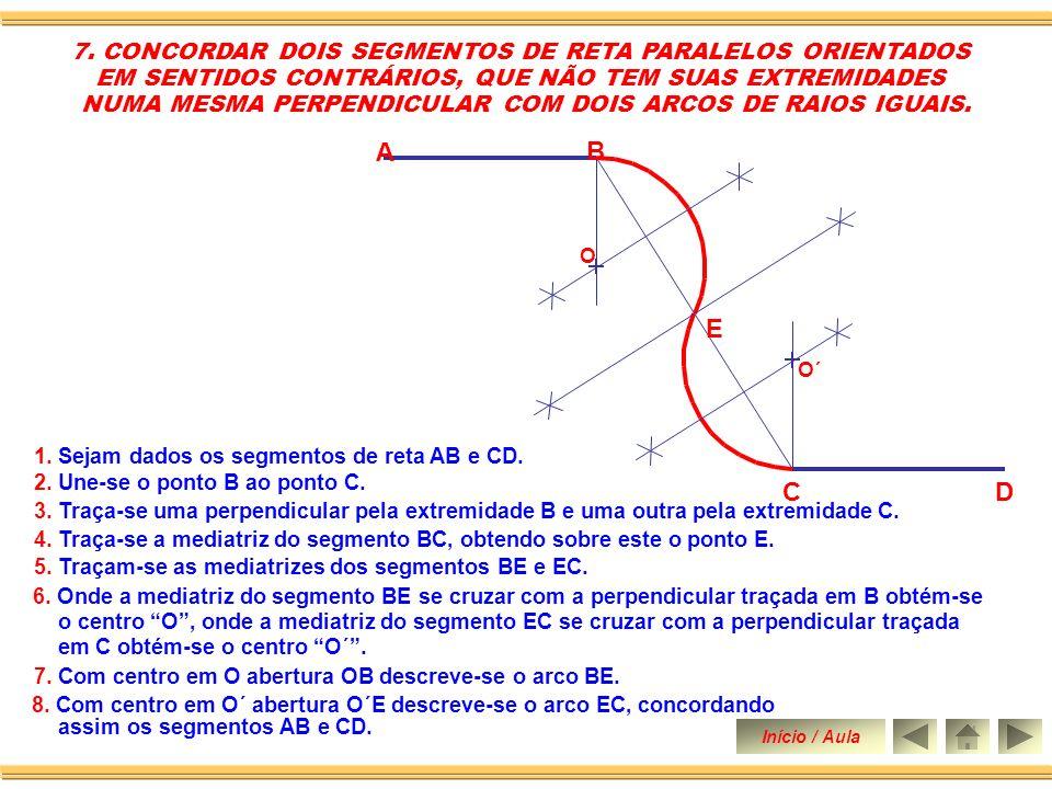 C D B A E 7. CONCORDAR DOIS SEGMENTOS DE RETA PARALELOS ORIENTADOS