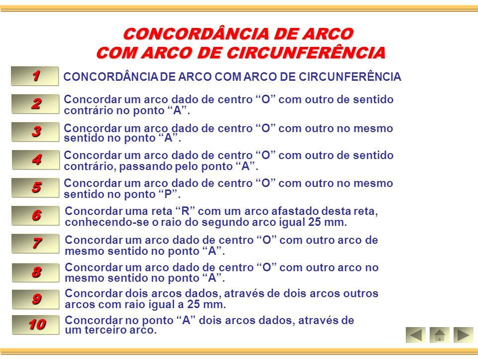 COM ARCO DE CIRCUNFERÊNCIA