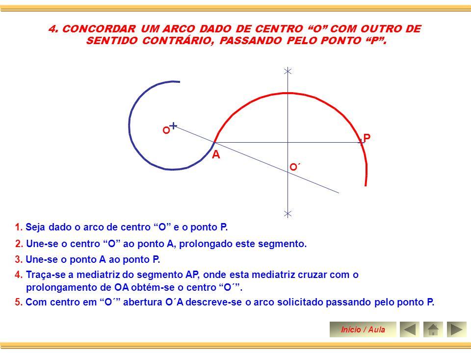 P A 4. CONCORDAR UM ARCO DADO DE CENTRO O COM OUTRO DE