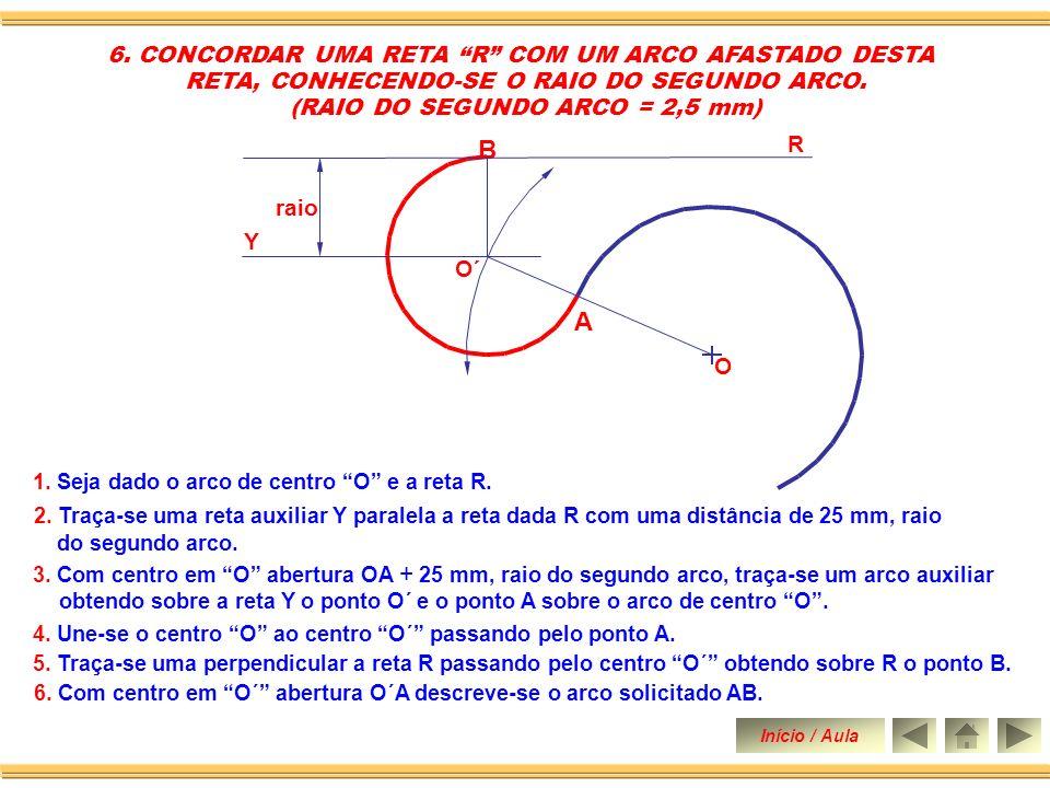 B A 6. CONCORDAR UMA RETA R COM UM ARCO AFASTADO DESTA