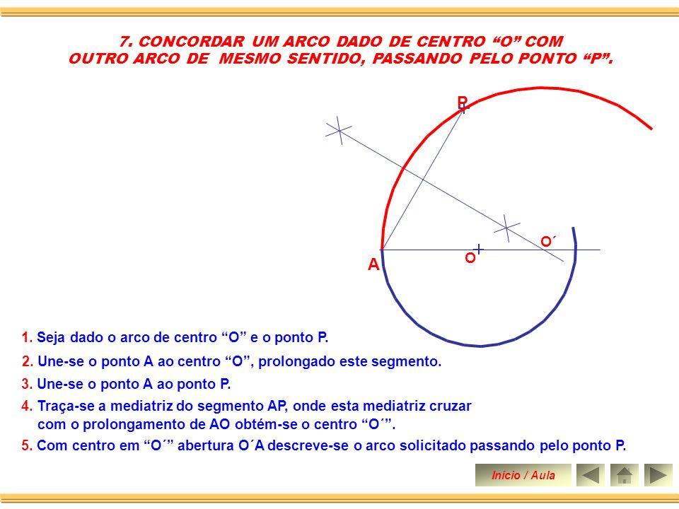 P A 7. CONCORDAR UM ARCO DADO DE CENTRO O COM