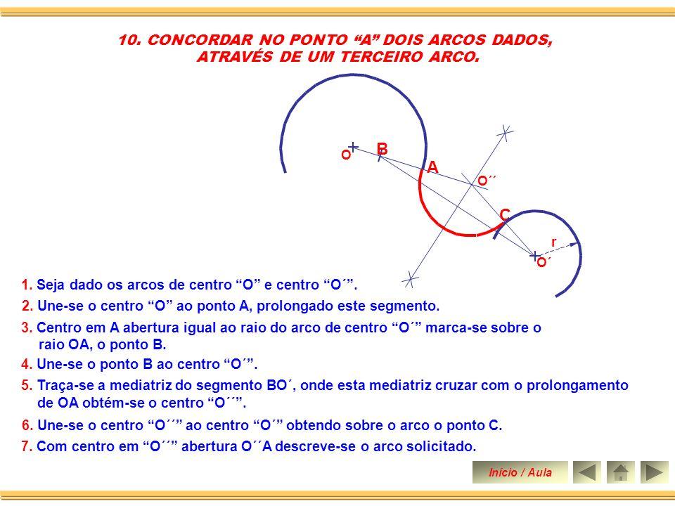 B A C 10. CONCORDAR NO PONTO A DOIS ARCOS DADOS,