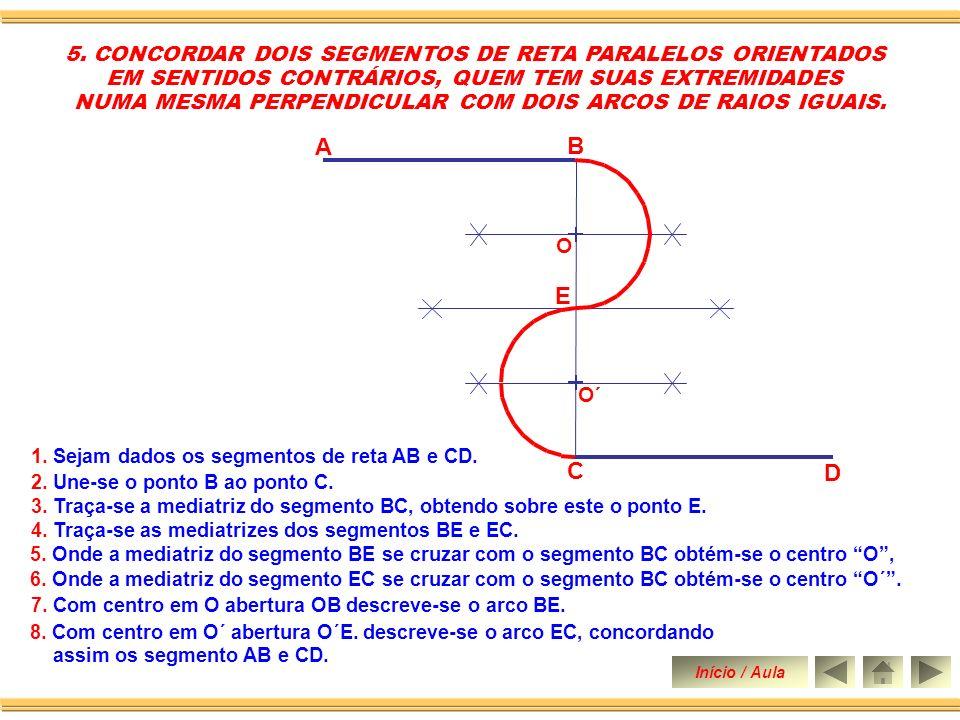 C D B A E 5. CONCORDAR DOIS SEGMENTOS DE RETA PARALELOS ORIENTADOS