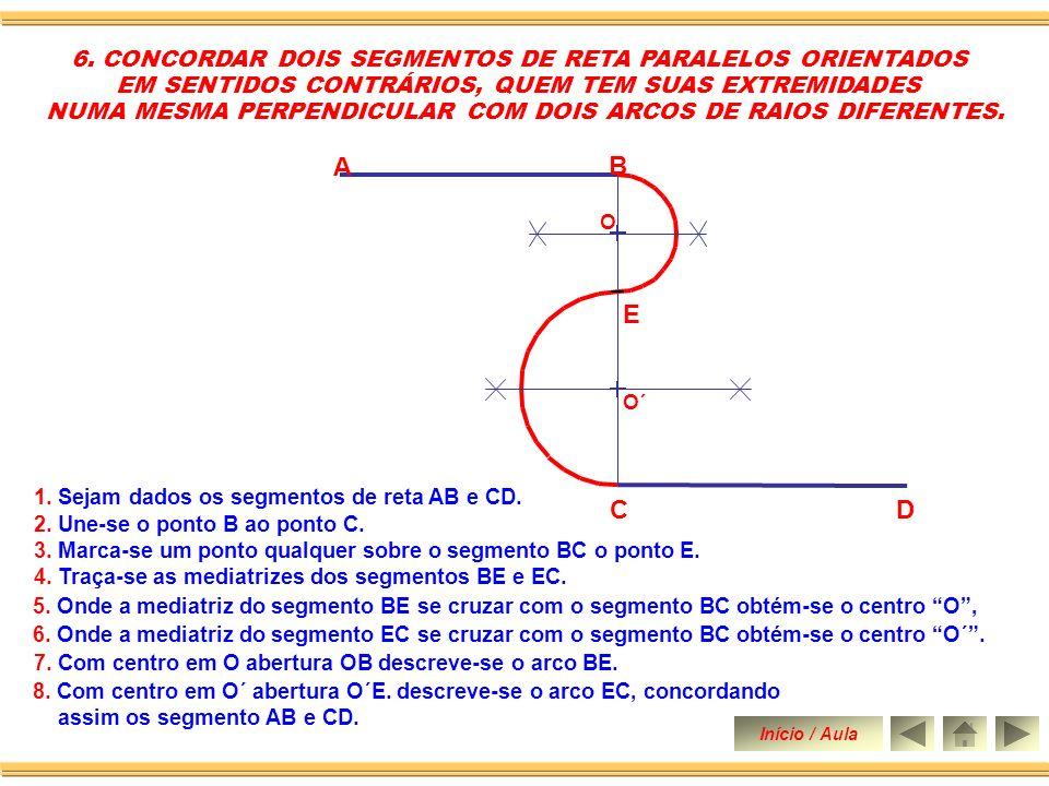 A B E C D 6. CONCORDAR DOIS SEGMENTOS DE RETA PARALELOS ORIENTADOS