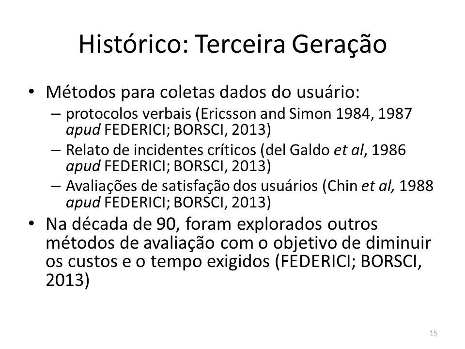 Histórico: Terceira Geração