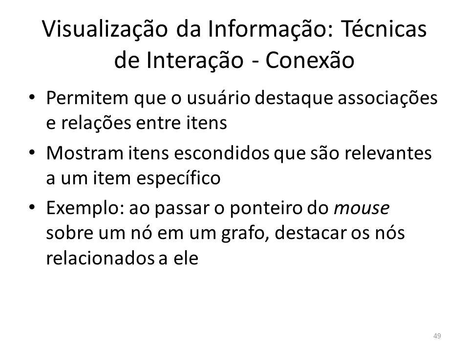 Visualização da Informação: Técnicas de Interação - Conexão