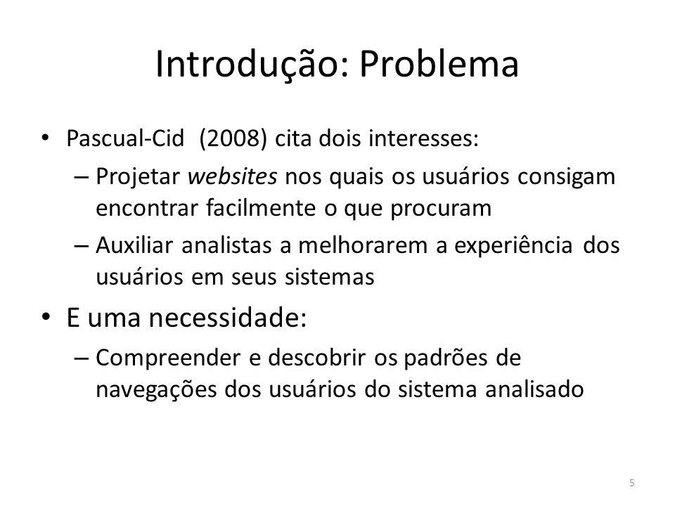 Introdução: Problema E uma necessidade: