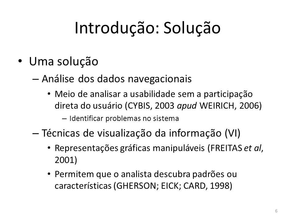 Introdução: Solução Uma solução Análise dos dados navegacionais