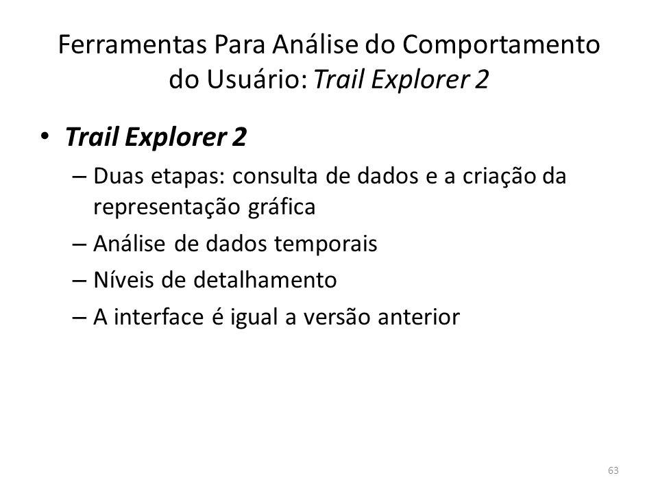 Ferramentas Para Análise do Comportamento do Usuário: Trail Explorer 2