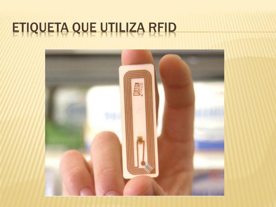 Etiqueta que utiliza RFID