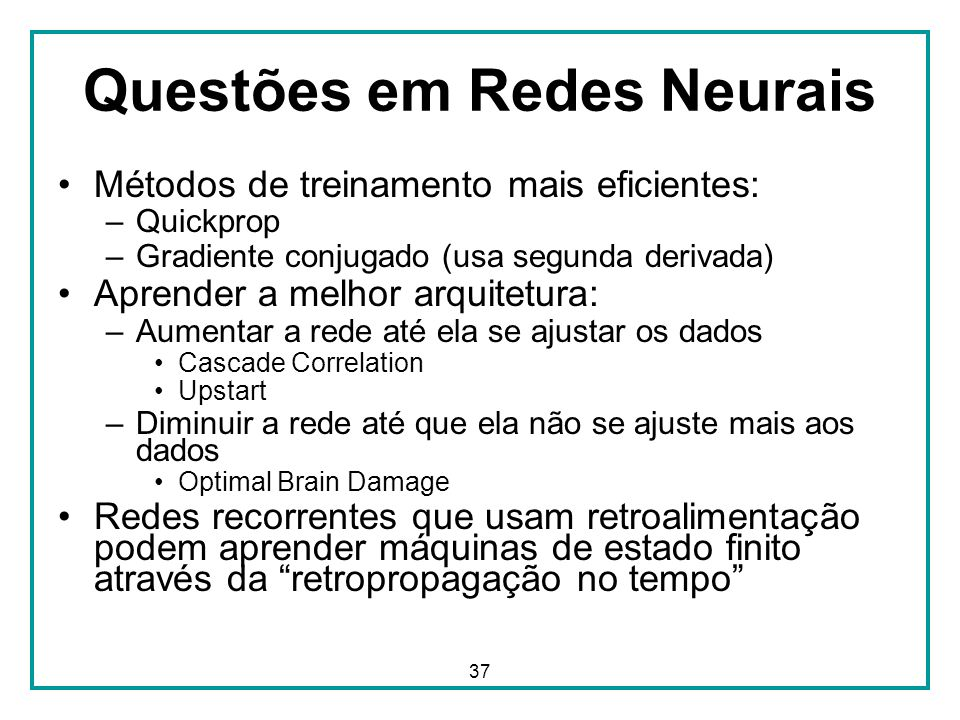 Questões em Redes Neurais