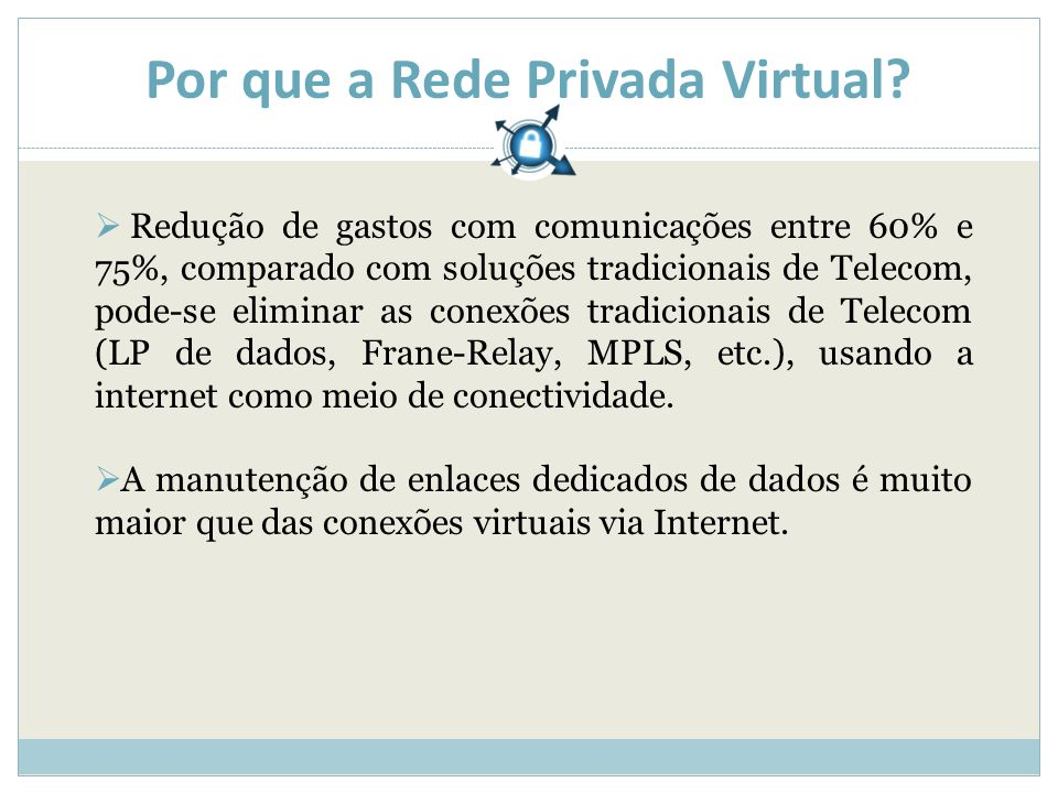 Por que a Rede Privada Virtual