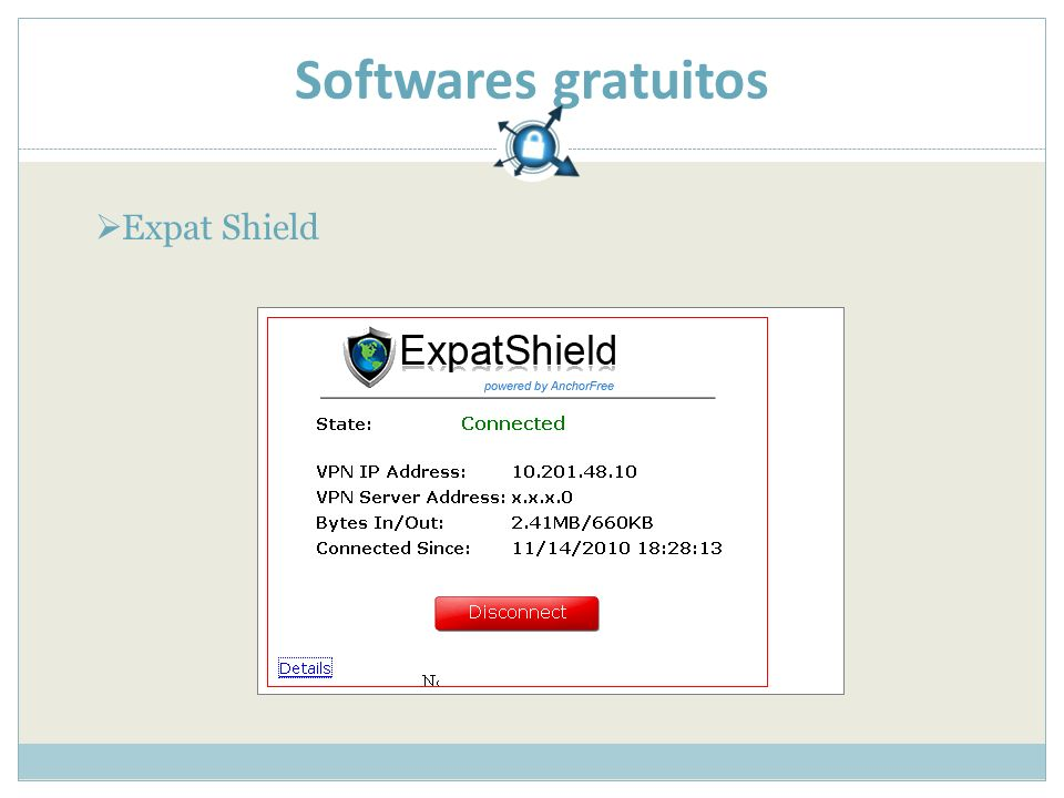 Softwares gratuitos Expat Shield