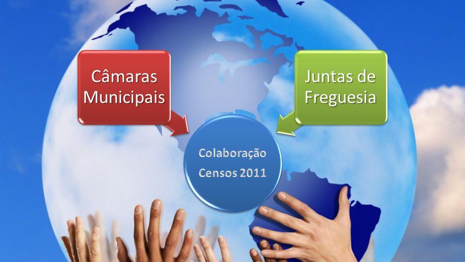 Colaboração Censos 2011 Câmaras Municipais Juntas de Freguesia