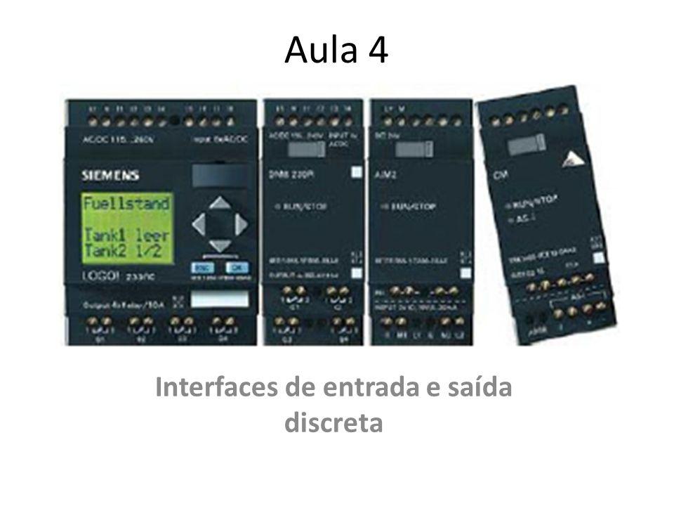 Interfaces de entrada e saída discreta