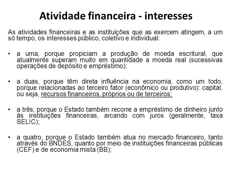 Atividade financeira - interesses