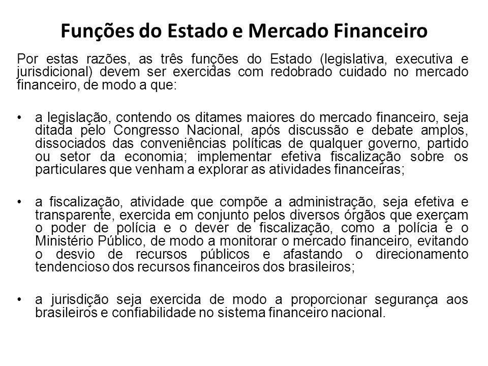 Funções do Estado e Mercado Financeiro