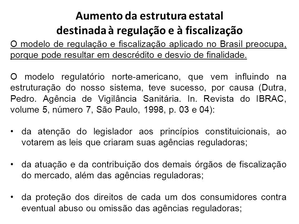 Aumento da estrutura estatal destinada à regulação e à fiscalização