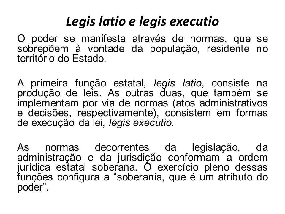 Legis latio e legis executio