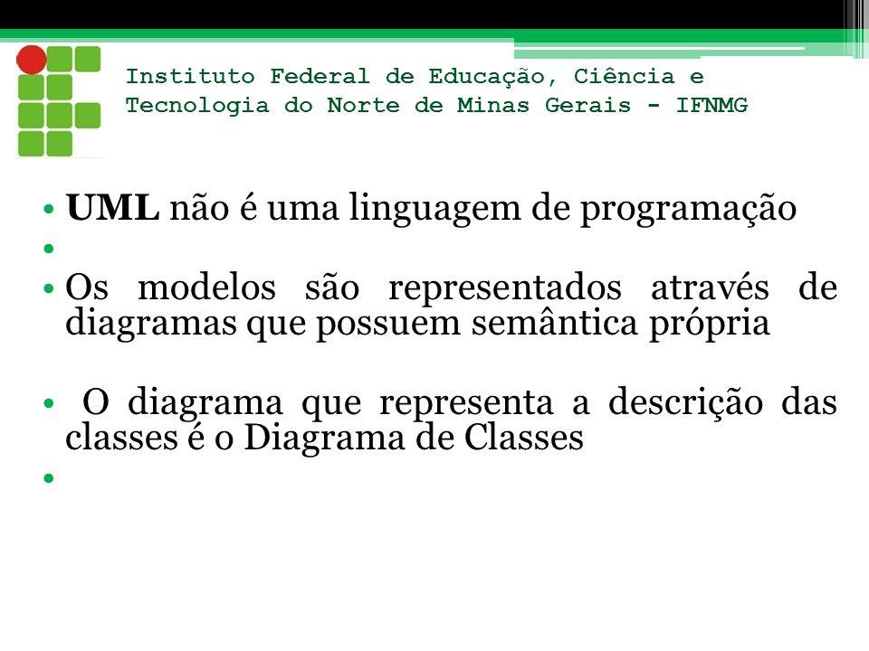 UML não é uma linguagem de programação