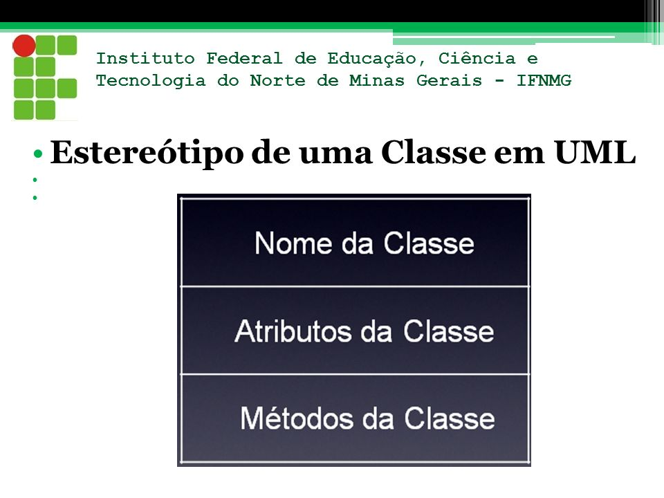 Estereótipo de uma Classe em UML
