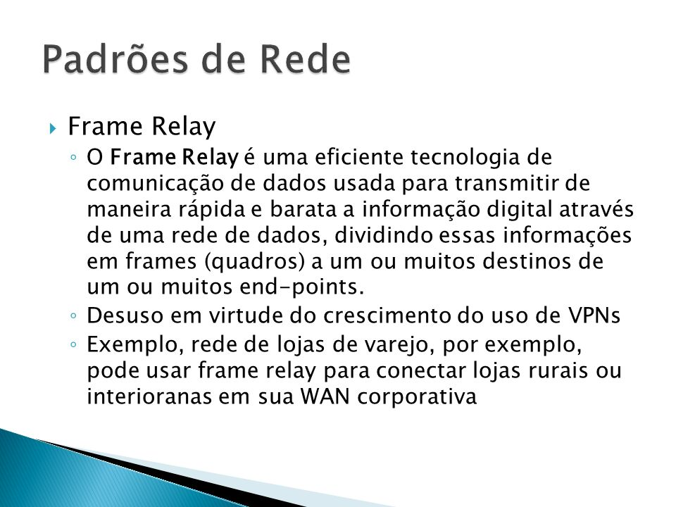 Padrões de Rede Frame Relay