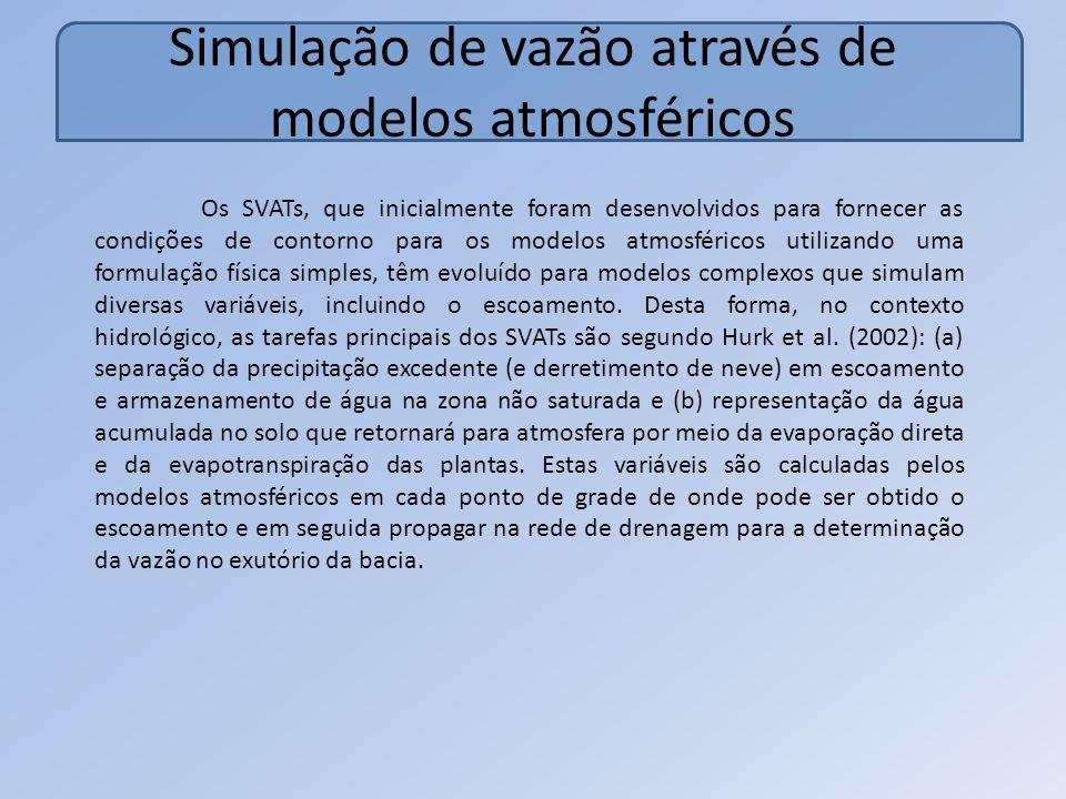 Simulação de vazão através de modelos atmosféricos