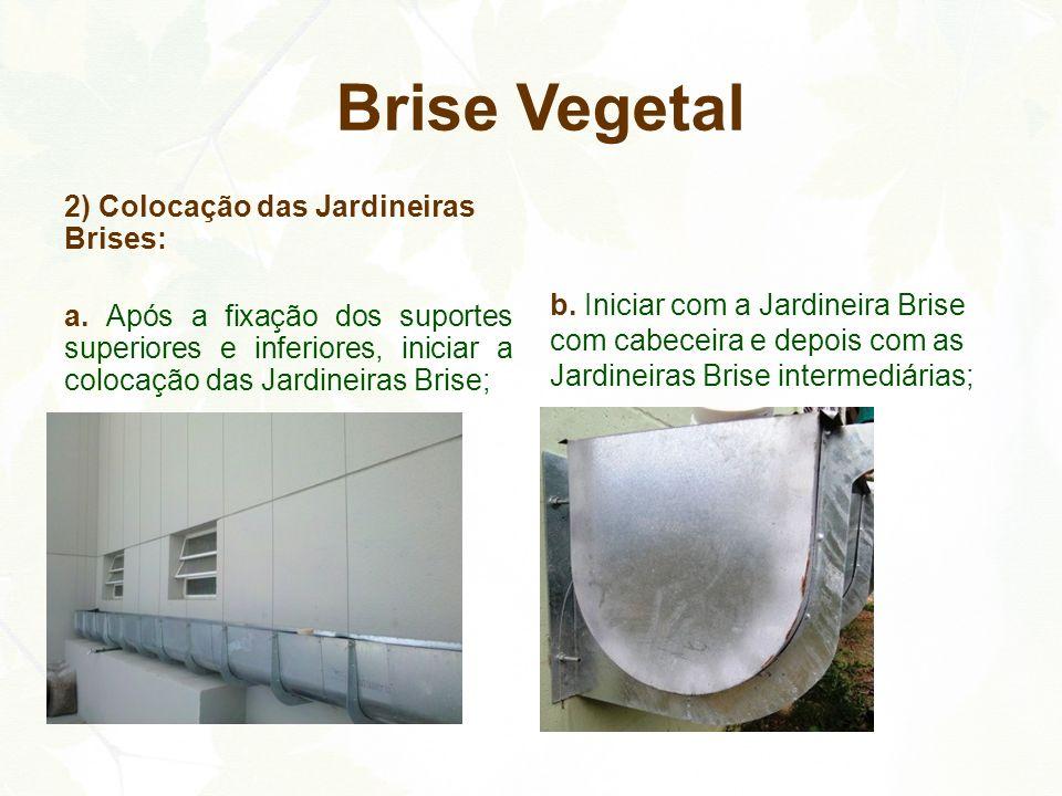 Brise Vegetal 2) Colocação das Jardineiras Brises: