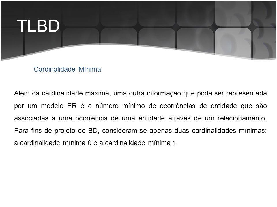 TLBD Cardinalidade Mínima