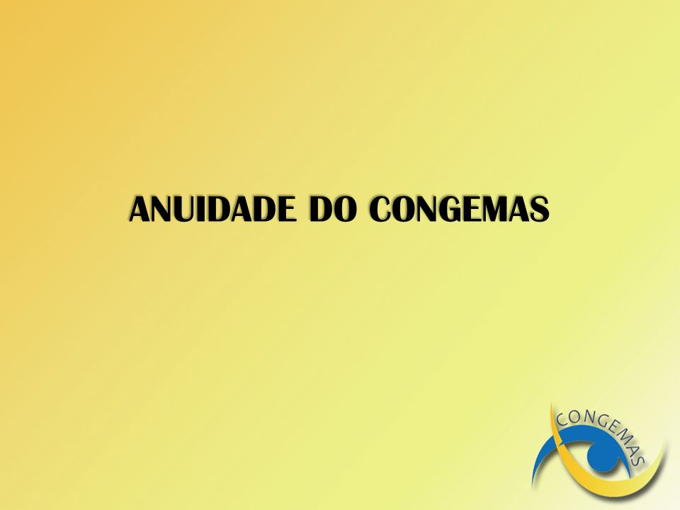 ANUIDADE DO CONGEMAS